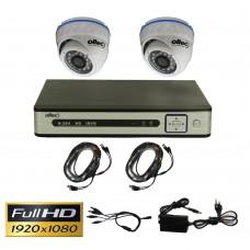 Комплект видеонаблюдения Oltec AHD-DUO-FullHD Dome