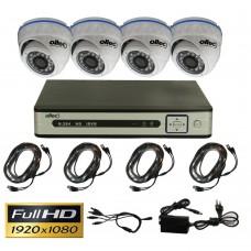 Комплект FullHD видеонаблюдения AHD-QUATTRO-FullHD Dome
