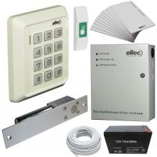 Комплект контроля доступа Oltec СКД-05 электромагнитный замок ригель EBD-100 (white)