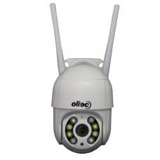Беспроводная уличная поворотная WiFi IP камера видеонаблюдения с трансфокатором Oltec IPC-124LW  2Mp Full HD