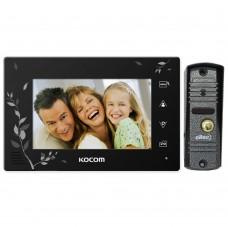 Комплект видеодомофона Kocom KCV-A374SDLE Black + LC-305 Oltec
